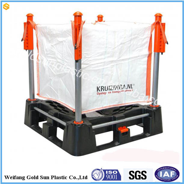 1 ton pp container bag for granule products Industrial bulk bag with orange belts