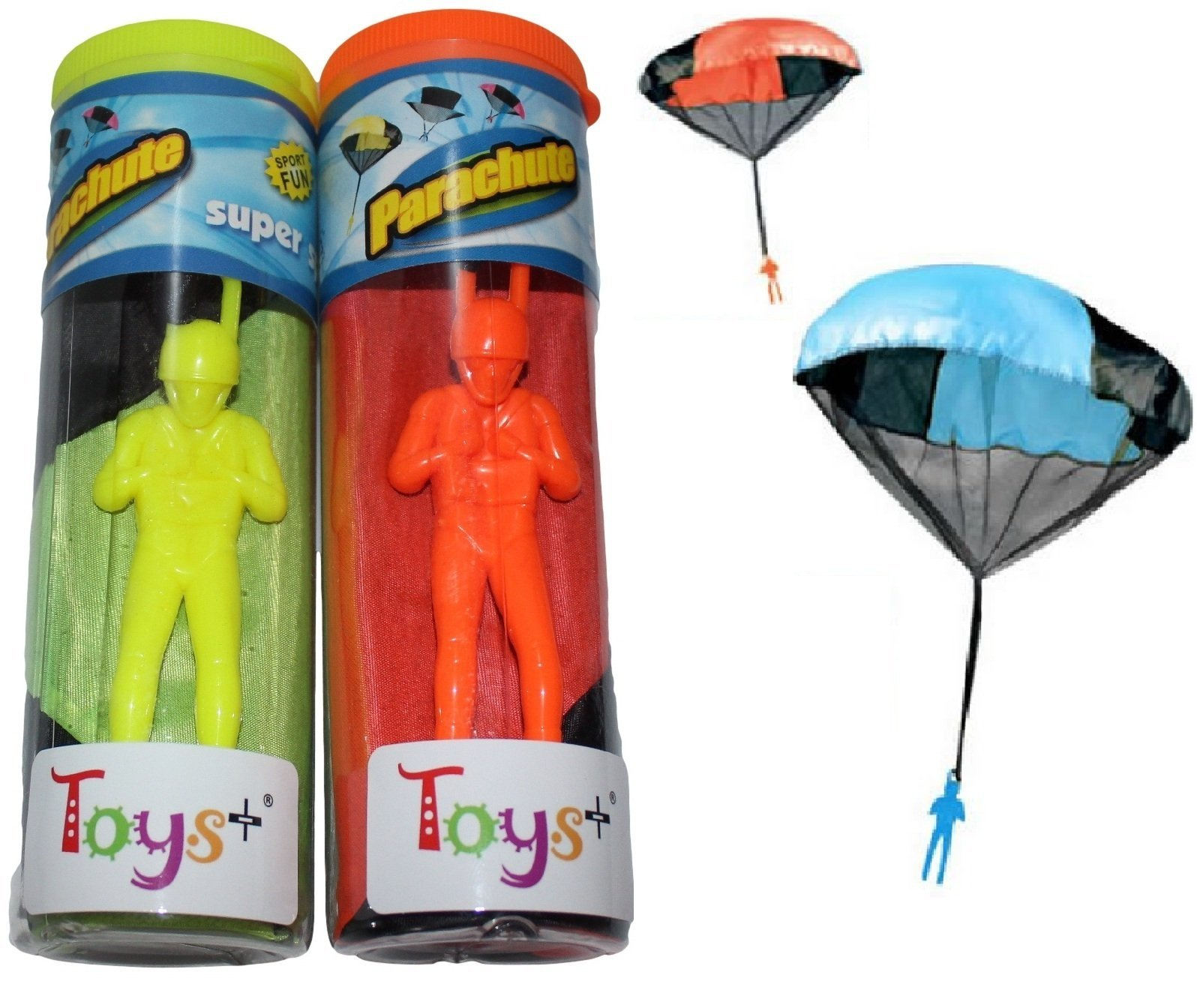 Toys+ 5 Piece Set Tangle Free Kinds Parachute Men For Children Skydiver Parachute Men (Colors and Styles May Vary)