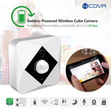 built in lithium rechargeable battery powered wifi wireless PIR sensor CCTV security IP digital video mini smart home camera sys