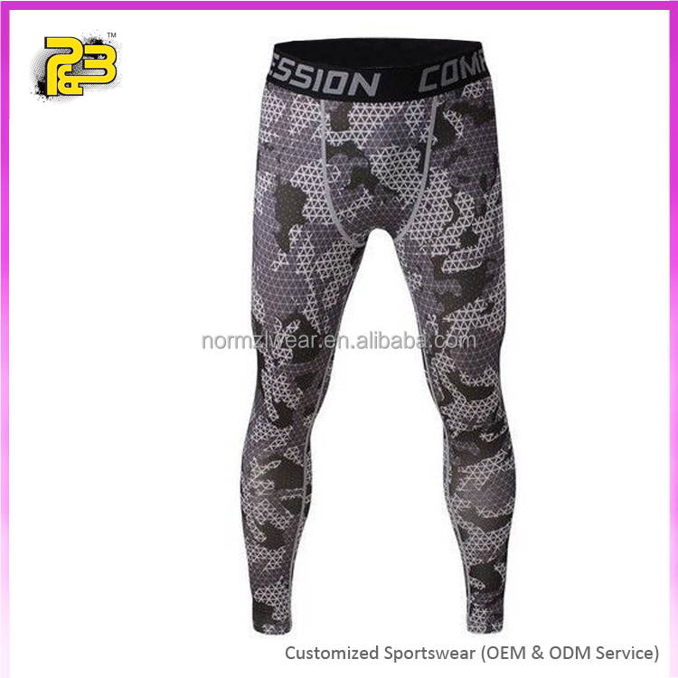 Custom men workout sportswear, mens long compression yoga pants