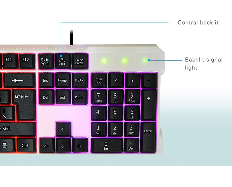 best computer usb wired led backlight gaming keyboard slim buy keyboard gaming computer. Black Bedroom Furniture Sets. Home Design Ideas