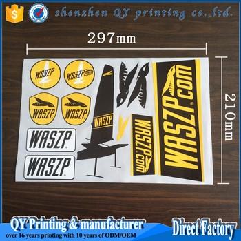 Full Color Printing Waterproof A Size Vinyl StickersCustom Die - Full color vinyl stickers