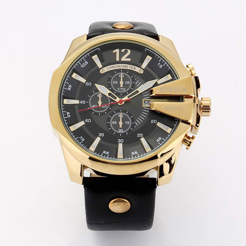 WJ-6091 Curren Brand <strong>Hot</strong> Sale Complete Calendar Fashion Waterproof Businessmen Watch