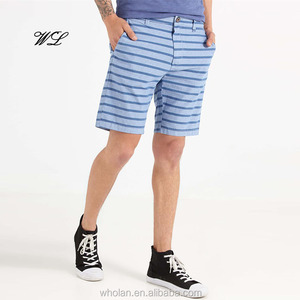 Mens Cargo Shorts Knitted Casual Silk Screen Printing OEM Zip Board Shorts