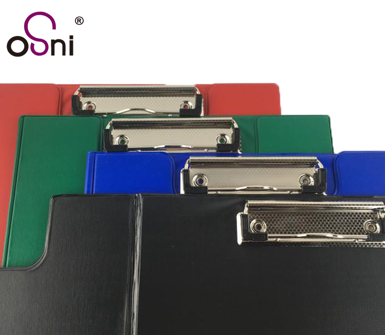 Office hot sale high quality custom a3 folding clipboard with pockets