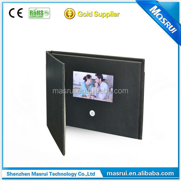Top quality leather video brochure 4.3inch