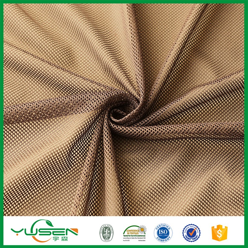 Stretch Poly Athletic Mesh Fabric for Outdoor Clothing
