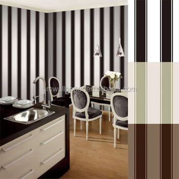 Italian Black And White Vinyl Wallpaper For Office Walls