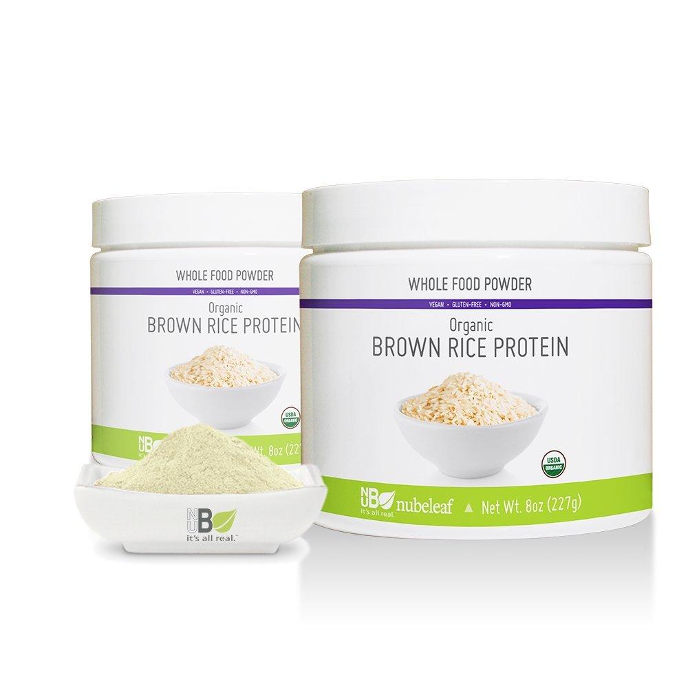 Nubeleaf Organic Brown Rice Protein 80% Powder 8oz Jar