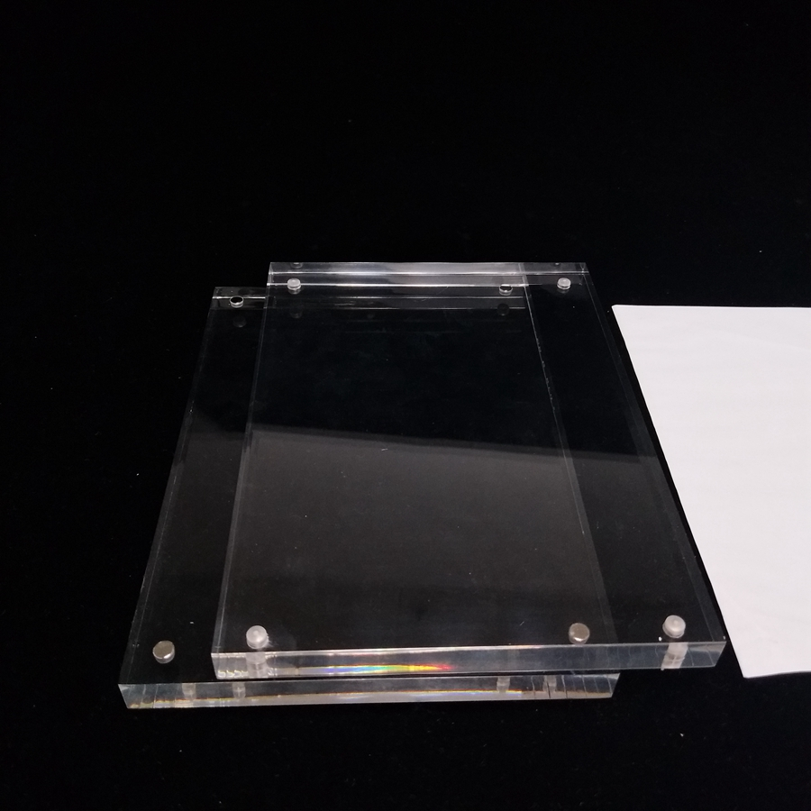 Desk Set 6*9cm Upright Clear Acrylic Magnetic Label Holder Stand L Shape Poster Banner Menu List Frame Advertising Black Sign Display