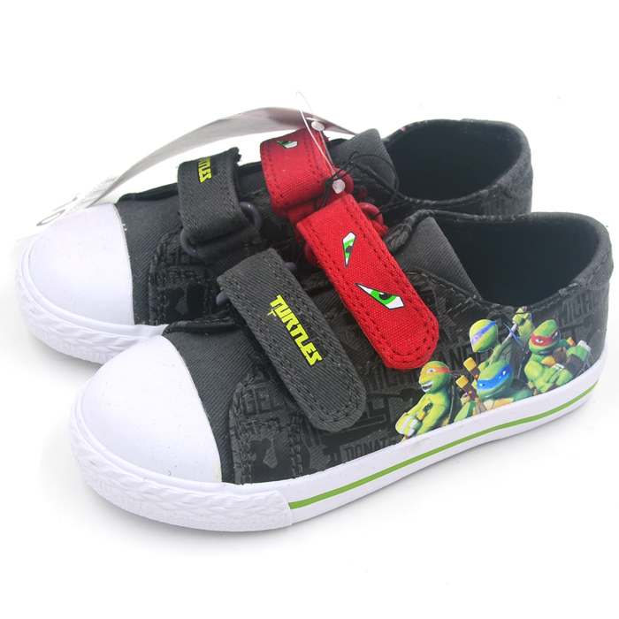 2015 Sapatos Brand Cartoon Ninja Turtles Shoes For Boys Casual Shoe Kids Canvas Velcro Children Sneakers Boys Shoes Flats L107