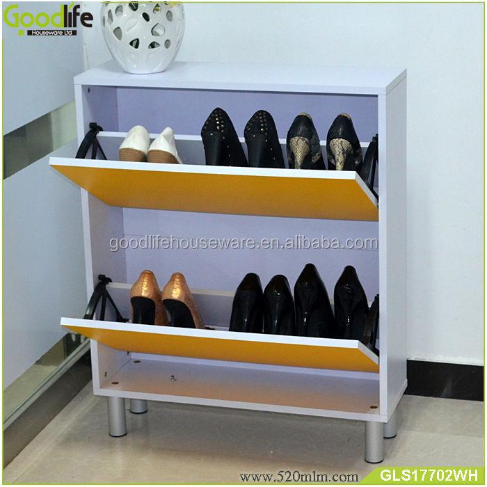 Rotary 3 cajones entrada gabinete del zapato de madera for Gabinete de zapatos para la entrada