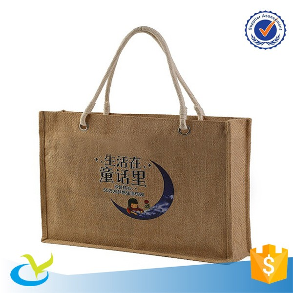 Factory wholesale cheap small eco shopping jute bag