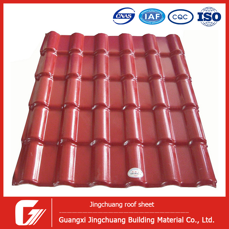 Philippines Asa Coated Roofing Tiles Plastic Roof Tiles
