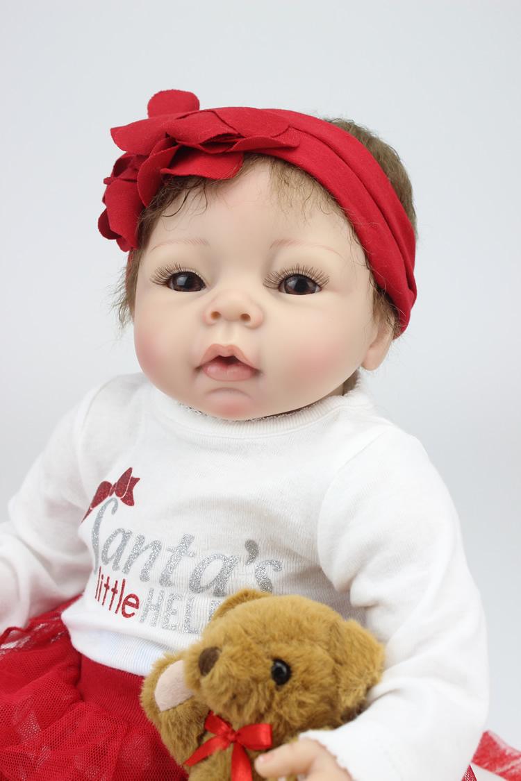 Full body silicone baby for sale 2015 - Npk Doll Silicone Reborn Baby Dolls For Sale 22 Inch Cloth Body Vinyl Baby Bebe Reborn