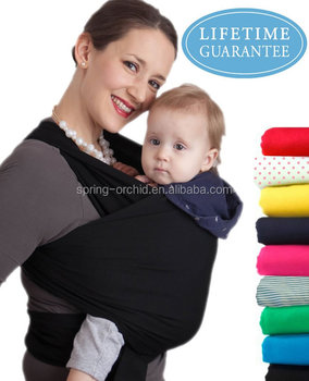 Fashionable lightweight bamboo cotton baby carrier sling wrap