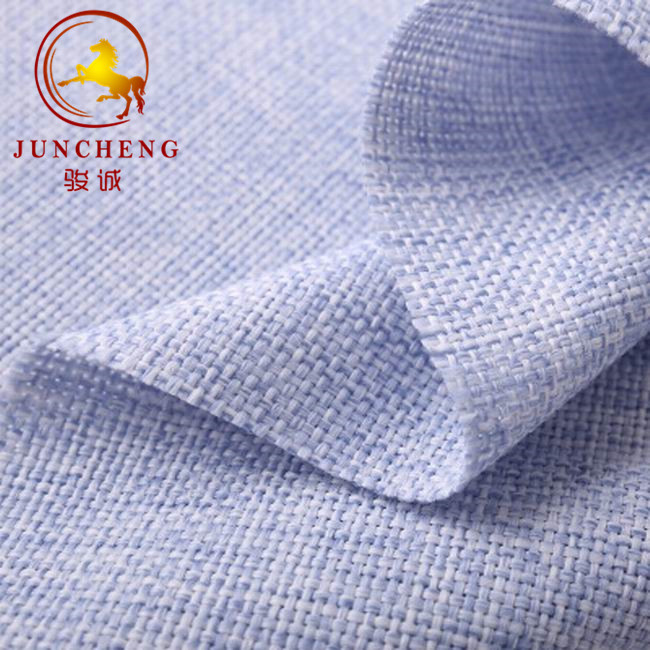 100% polyester breathable solid color linen <strong>fabric</strong> for curtain and sofa