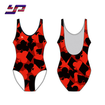 2018 newest design ODM ladies custom red one piece swimsuit