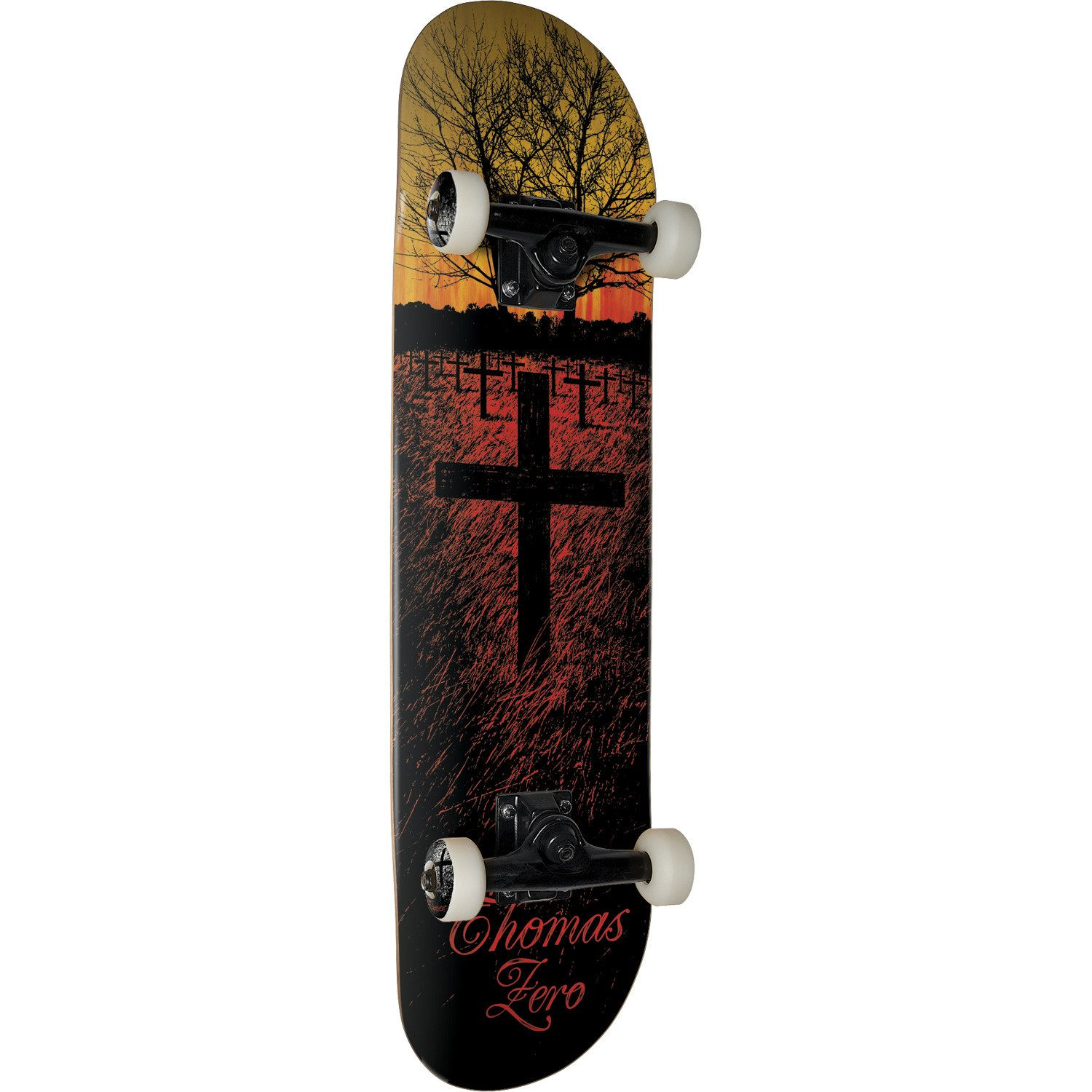 "Zero Skateboards Jamie Thomas Life & Death Fade Red / Yellow Complete Skateboard - 7.75"" x 32"""