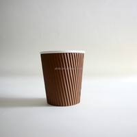 new design royal bone china ribbed coffee set paper coffe cup