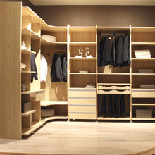 OPPEIN Multifunctional Corner Wardrobe Cabinet Walk in Closet