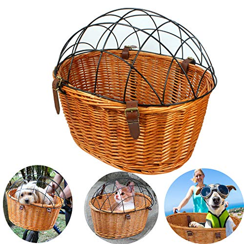 Competent Outdoor Bicycle Basket Environmentally Friendly Rattan Willow Hand Woven Basket Bicycle Accessories Bicycle Accessories