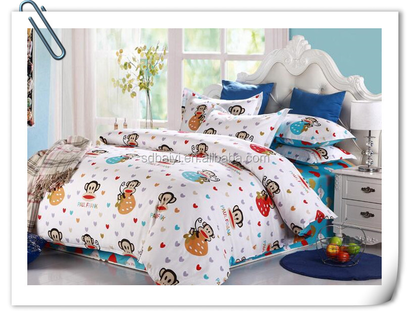 3d 4pcs Bright Colorful Bedding Set reactive printed flower design cover bed sheet