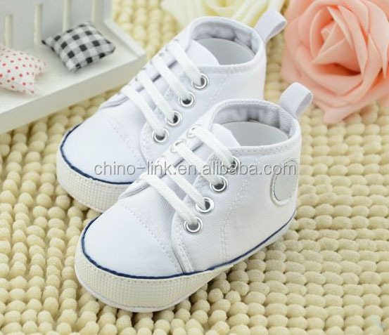 2015 hot selling fashion baby kid canvas shoes