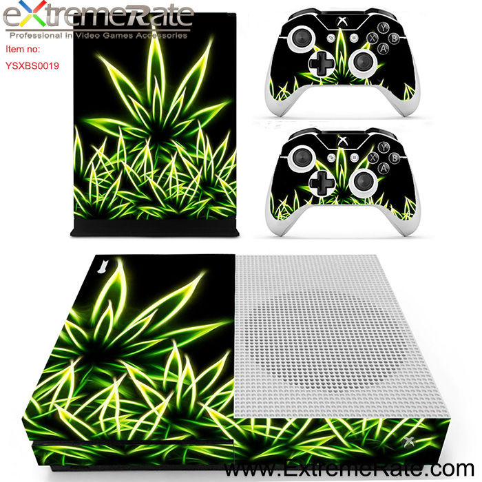 Big leaves style protective stickerfor Xbox One S decal YSXBS0019