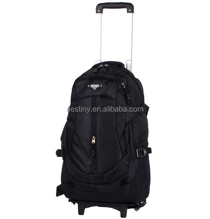 china wholesale cheap trolley backpack with detachable trolley