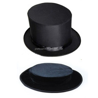 Magician Maigc Top Hat with Trapdoor Collapsible for Stage Magic Trick