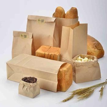 Custom Made Kraft Paper Bread Bags For