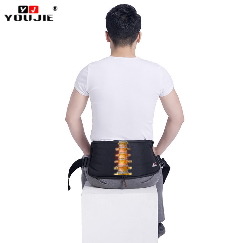 FDA CE Portable Comfortable Sitting Back Support Lumbar brace belt with knee straps back posture corrector for relief back pain