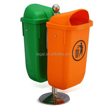recycled plastic garbage bin,waste containers,stainless steel pail with lids