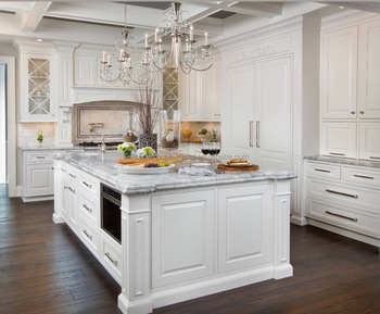 2018 custom made white colonial kitchen design