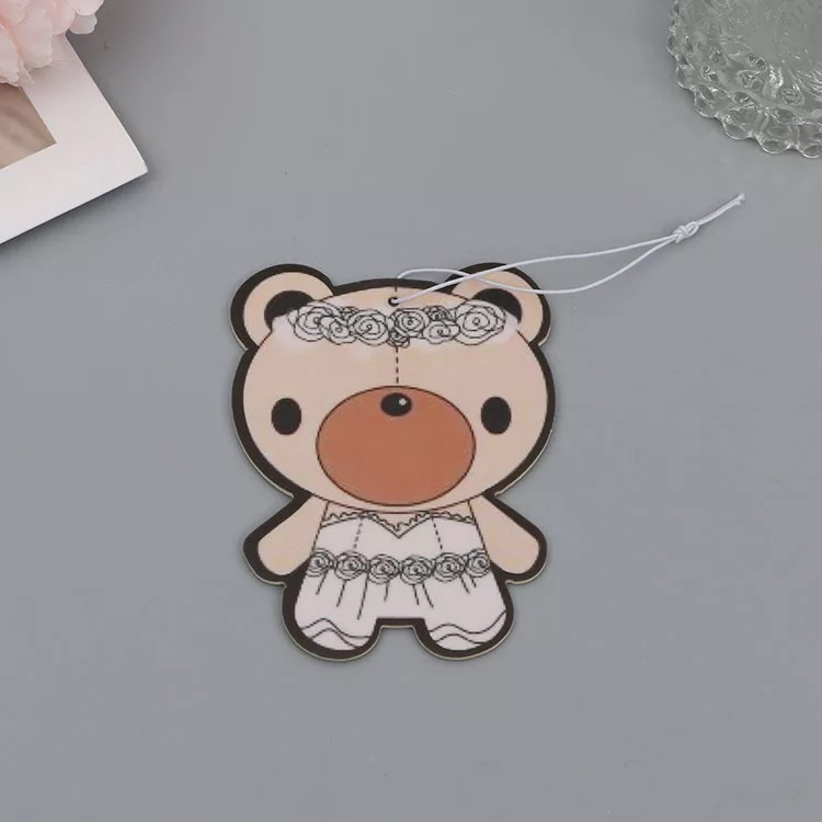 Hot promotional personalized custom paper car scent air freshener