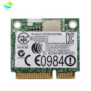 BroadCom BCM94322HM8L DW1510 BCM94322 BCM4322 Dual Band +300Mbps Half Mini  PCI-Express Wireless Card For DELL E4200 E5500 Z09