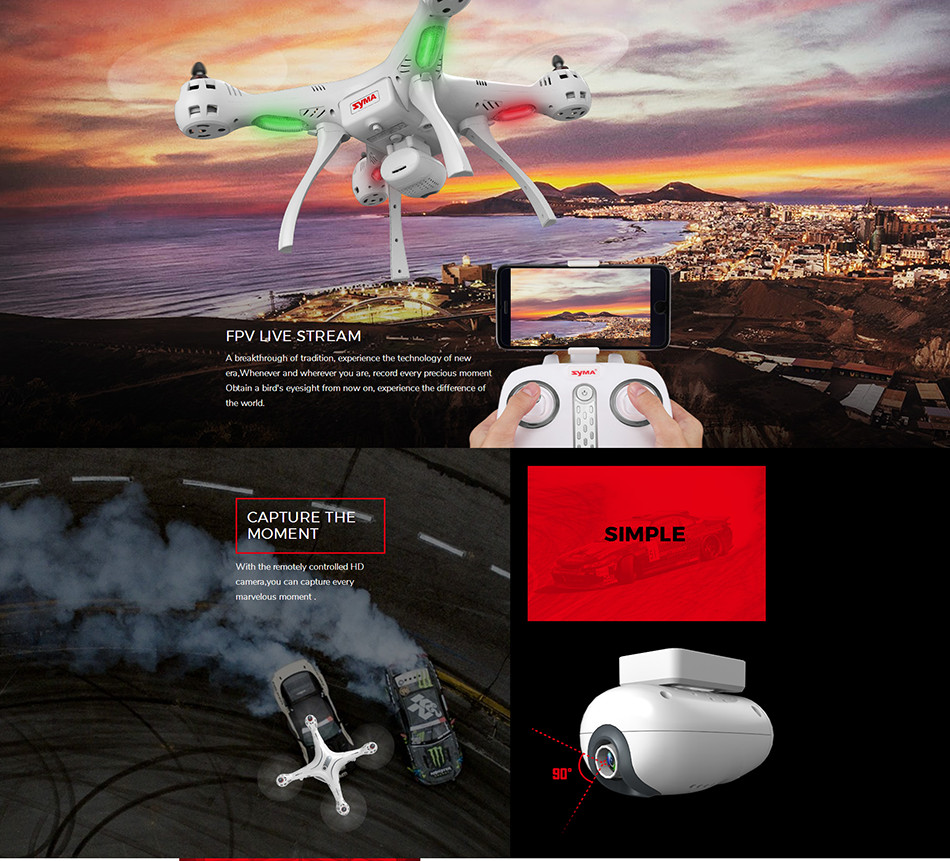 sima X8PRO GPS DRON WIFI FPV With 720P HD Camera or Real-time Camera drone 6Axis Altitude Hold x8 pro RC Quadcopter RTF
