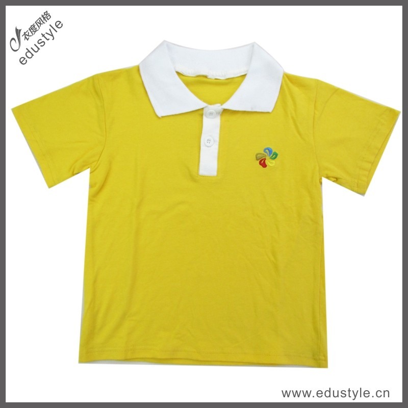 Free Sample Cotton Printed Kids Polo Shirts Wholesale