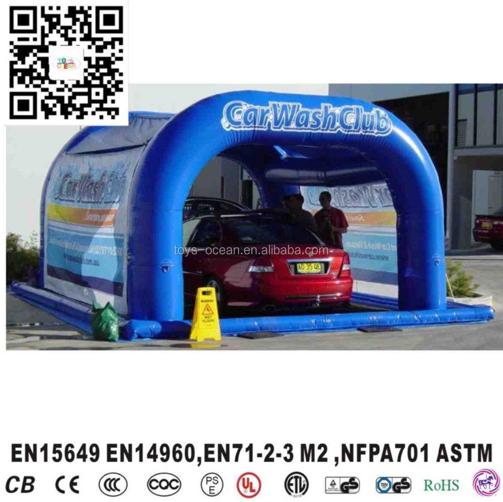 Inflatable Car Wash Tent Car Cover Outdoor Portable Car
