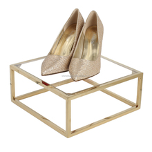 Wholesale Metal Polished Gold Shoe Shelf For Shops, Retail Shoe Display Shlves For Store Shelf Display Tray Manufacturer