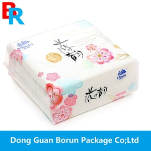 Custom printed high quality ldpe plastic tissue toilet paper plastic packaging bags