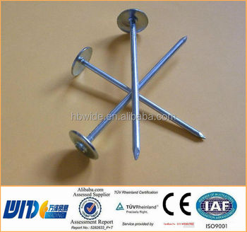 2.6u0026quot; Wire/twist /zinc Umbrella Roofing Nails/ Hot Dipped Galvanized  Roofing
