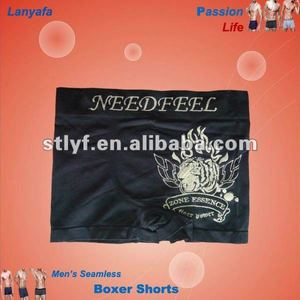 Fashion hot man cheap leather boxer shorts