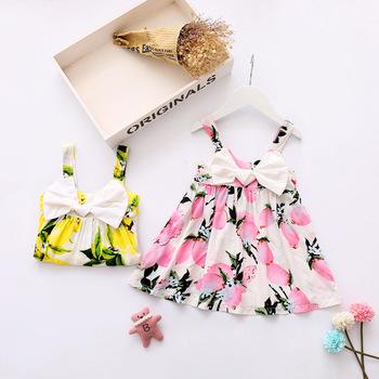 2d42cc593 Baby Girl Summer Sweet Sundress Cotton Beach Printed Flower Dress ...