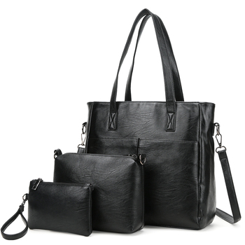 In Stock China Suppliers Whole Factory Low Price Women Gender 3pcs Bag Set And Pu Material