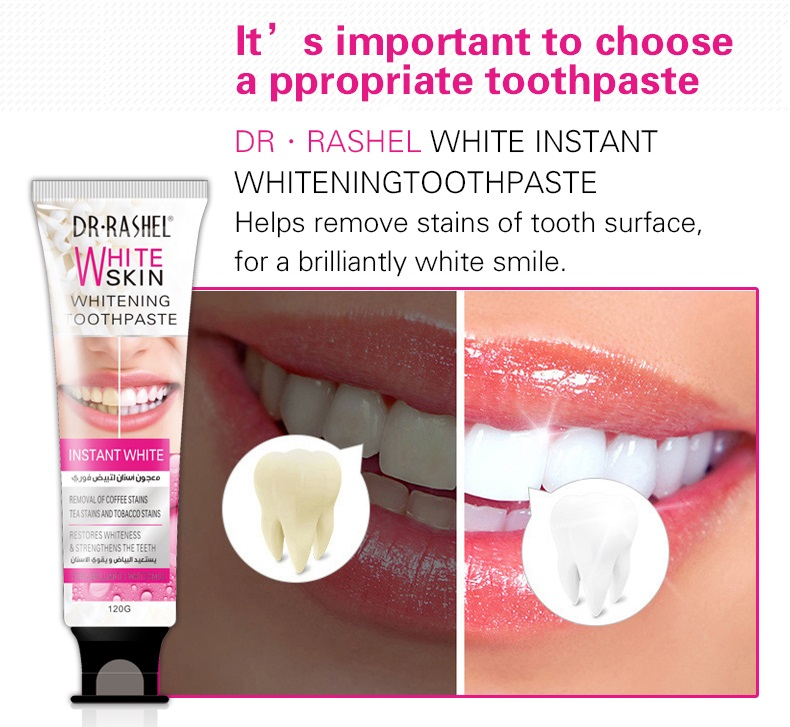 DR.RASHEL Coffee Tea Tobacco Stains Removing Whitening Toothpaste