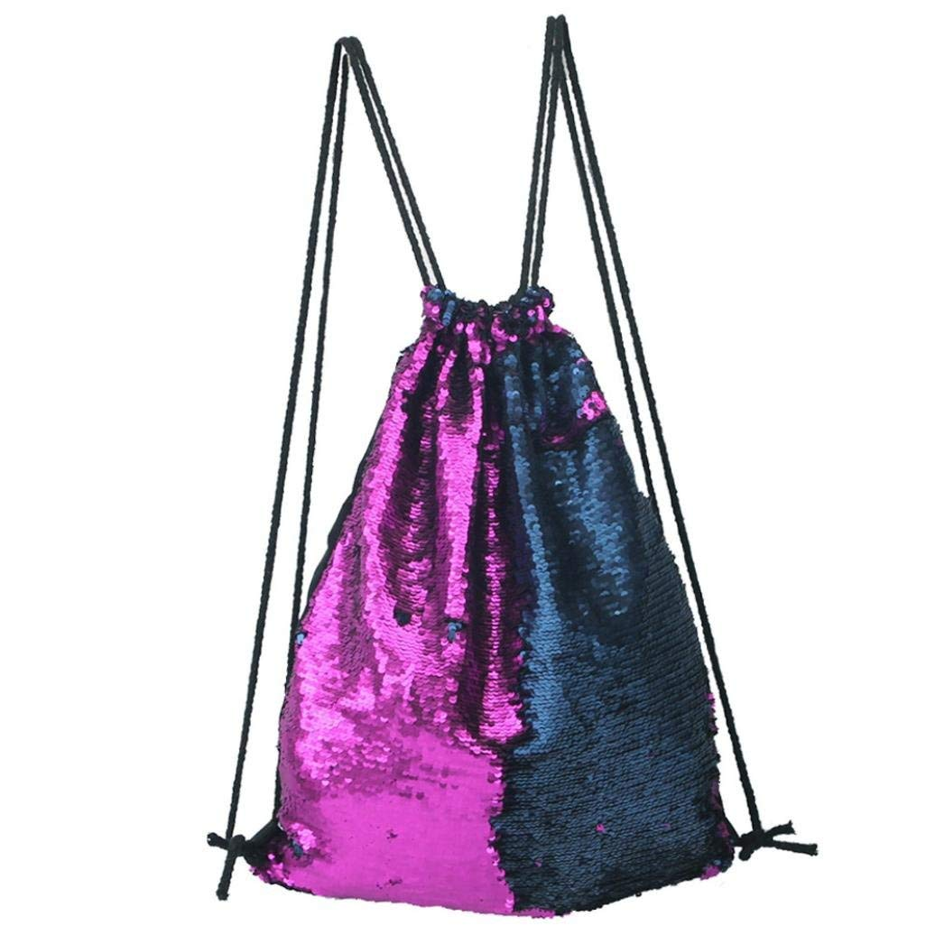 Womens Bag Messenger Bag Fashion Sports Bag Casual Backpack Sequins Chest Bag Faionny