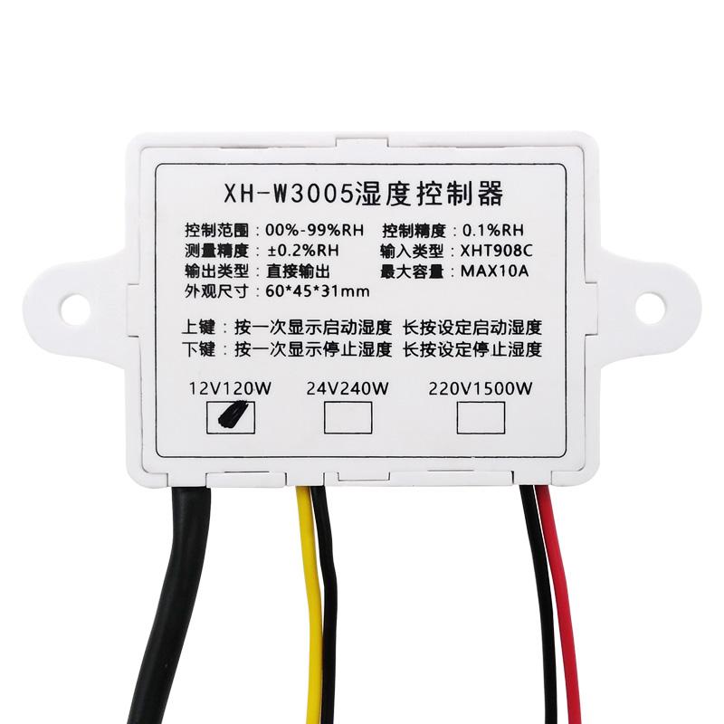 Digital Humedad Controlador Control Interruptor Higrómetro Higrostato 1pcs