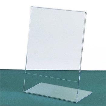 Clear Acryl Schuine Teken HouderPlexiglas Prijskaartje Display